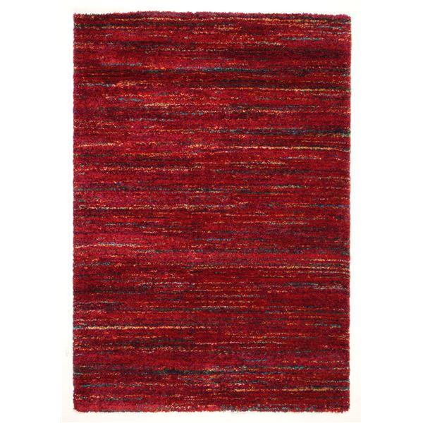 ベルギー ラグマット/絨毯 【200cm×250cm レッド】 長方形 高耐久 ウィルトン 『SHERPA COSY』 〔リビング〕【代引不可】