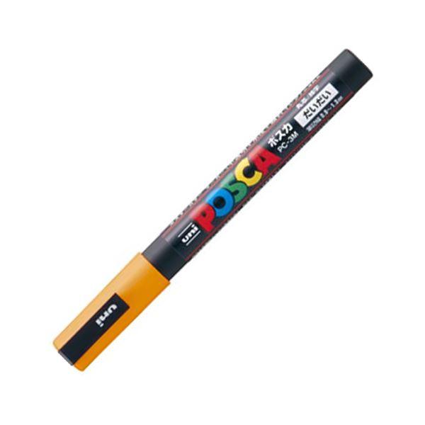 (まとめ) 三菱鉛筆 水性マーカー ポスカ 細字丸芯 橙 PC3M.4 1本 【×50セット】