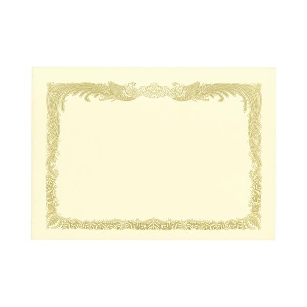 (まとめ) TANOSEE 賞状用紙 クリーム B4 タテ書用 1冊(10枚) 【×10セット】