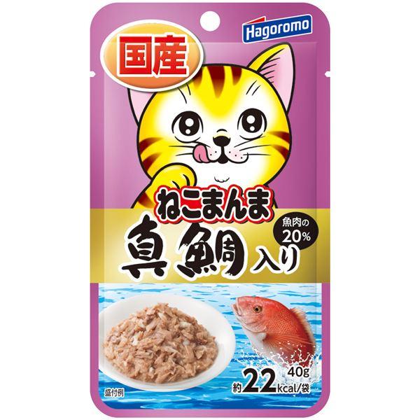 (まとめ)プレミアムねこまんまパウチ真鯛入 40g【×72セット】【ペット用品・猫用フード】