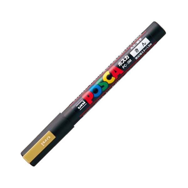 (まとめ) 三菱鉛筆 水性マーカー ポスカ 細字丸芯 金 PC3M.25 1本 【×50セット】