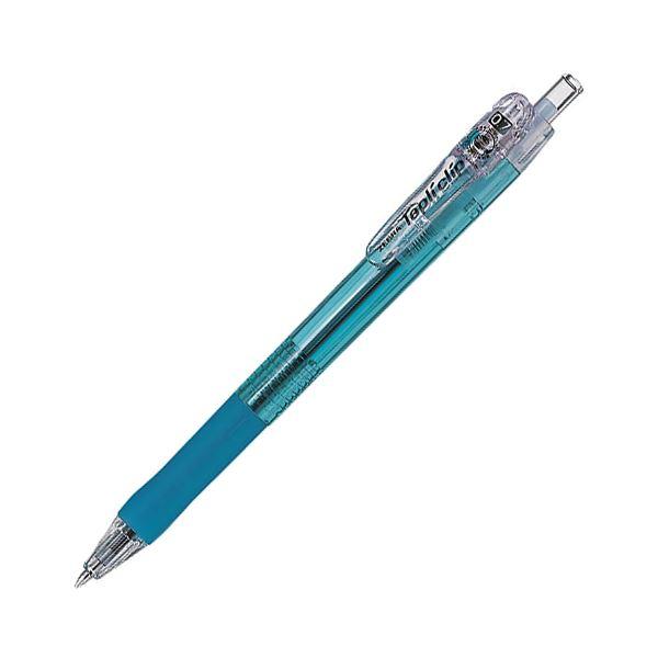 (まとめ) ゼブラ 油性ボールペン タプリクリップ0.7mm 黒 (軸色 ライトブルー) BN5-LB 1本 【×100セット】