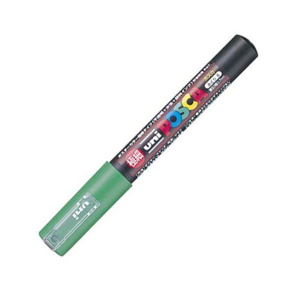 (まとめ) 三菱鉛筆 水性マーカー ポスカ 極細 緑 PC1M.6 1本 【×50セット】