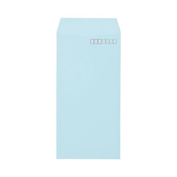 (まとめ)キングコーポレーション ソフトカラー封筒長3 80g/m2 〒枠あり ブルー 業務用パック 161303 1箱(1000枚)【×3セット】