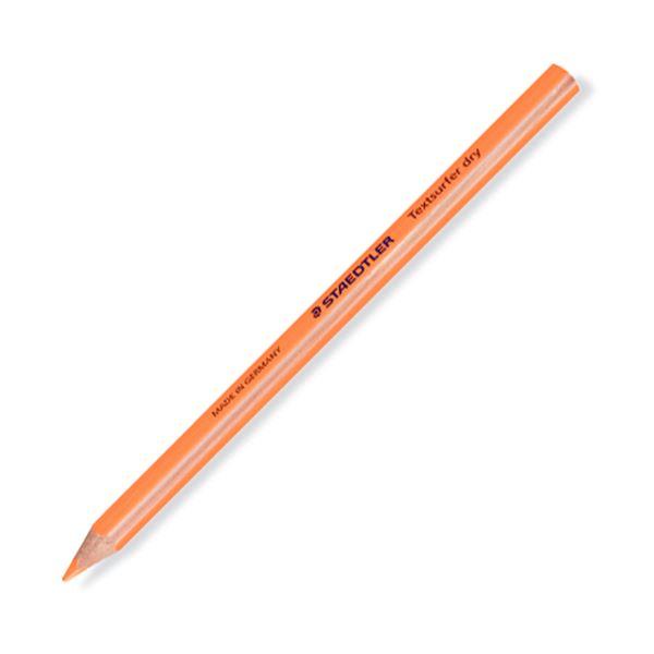 (まとめ) ステッドラー テキストサーファー ドライ蛍光色鉛筆(太軸) ネオンオレンジ 128 64-4 1セット(12本) 【×10セット】