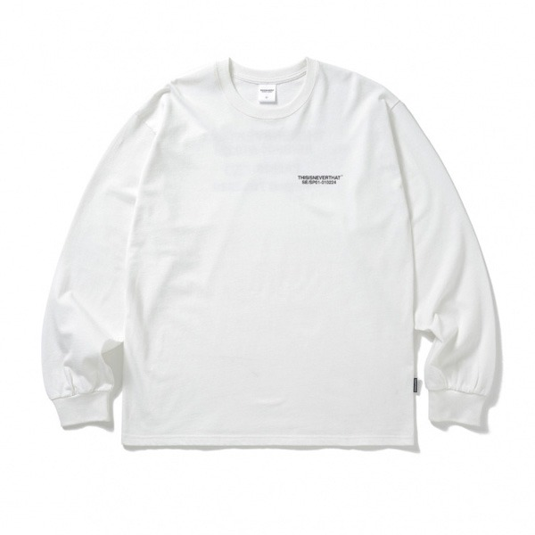 thisisneverthat(ディスイズネバーザット)ロゴロングTシャツ/ホワイト L
