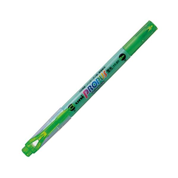(まとめ) 三菱鉛筆 蛍光ペン プロパス・ウインドウグリーン PUS102T.6 1本 【×100セット】