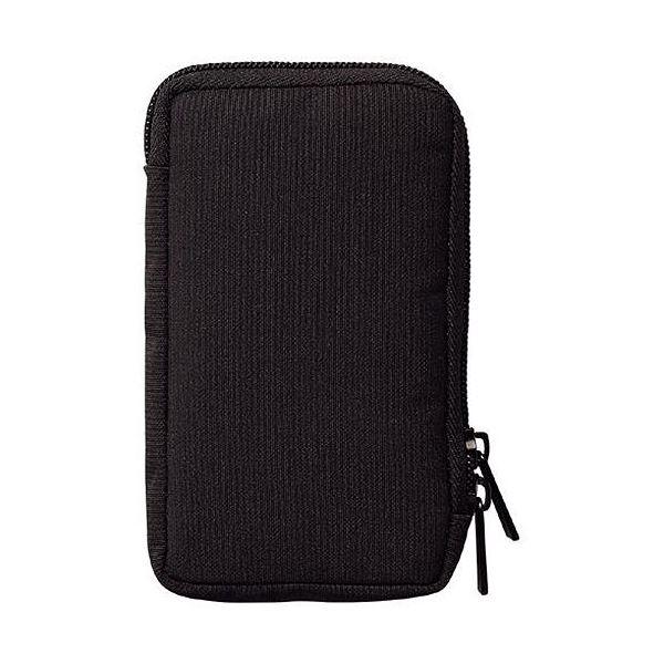 スマートフォン・デジカメ・ペン・メモ帳などをコンパクトに持ち運べるポーチ。 (まとめ) リヒトラブ SMART FITモバイルポーチ ブラック A-7584-24 1個 【×10セット】