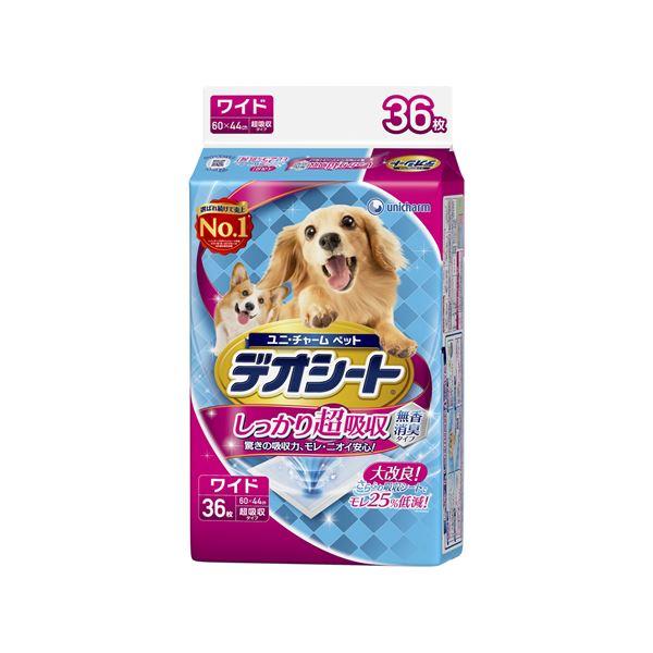 (まとめ)デオシート しっかり超吸収無香消臭タイプ ワイド 36枚【×6セット】【ペット用品・犬用】
