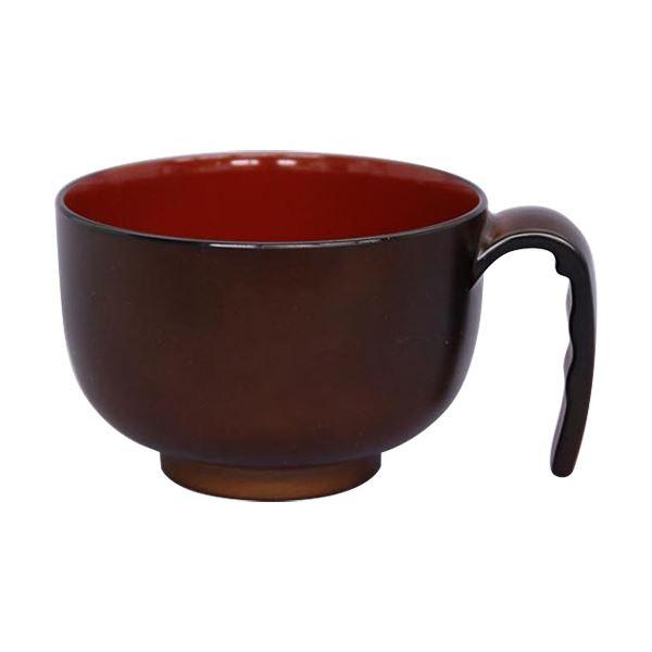 (まとめ)台和 取っ手付き汁椀ミニ ブラウン HS-N32 1個【×10セット】