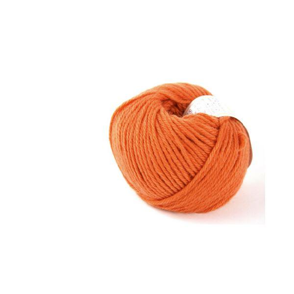(まとめ)毛糸ままあむ#60 オレンジ【×30セット】