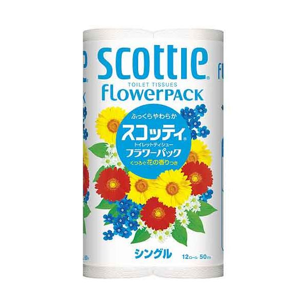 (まとめ) 日本製紙クレシア トイレットペーパスコッティフラワーS96巻【×3セット】