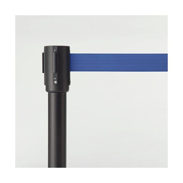 安定感抜群のベルトパーテーション。 ベルトパーテーションスタンド SH ブラックタイプ ベルト:青 1セット(4台)〔沖縄離島発送不可〕