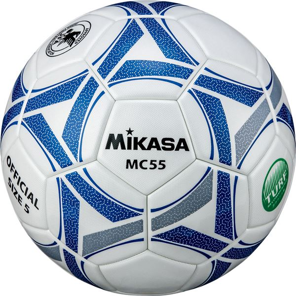 MIKASA ミカサ 休み サッカーボール5号検定球 MC55WBLN 休日 ホワイト×ブルー 〔沖縄離島発送不可〕