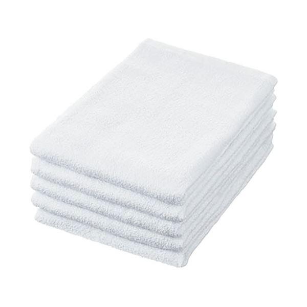 乾きやすい薄手バスタオル まとめ 作業用バスタオル ついに入荷 ホワイト 5枚 新作 人気 〔沖縄離島発送不可〕 1パック ×5セット