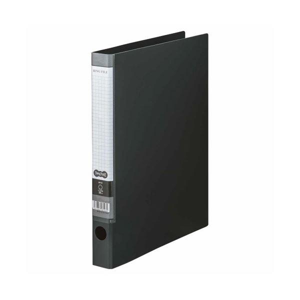(まとめ) TANOSEE Oリングファイル A4タテ 2穴 170枚収容 背幅35mm ダークグレー 1冊 【×30セット】