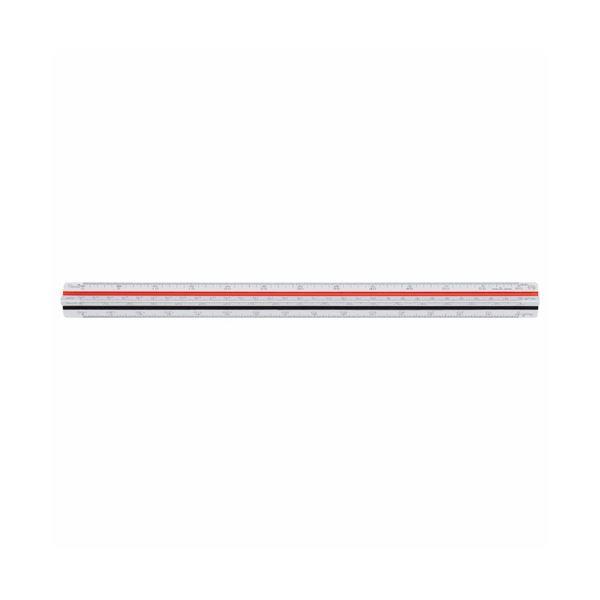 (まとめ) ライオン事務器 三角スケール 一般用副尺付き 300mm No.500 1個 【×5セット】