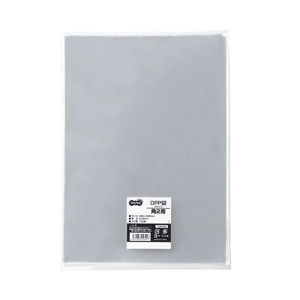 (まとめ) TANOSEE OPP袋 フラット 角2 240×332m 1セット(500枚:100枚×5パック) 【×5セット】