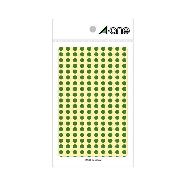 (まとめ) エーワン カラーラベル 丸型 直径5mm緑 07063 1パック(1800片:200片×9シート) 【×30セット】