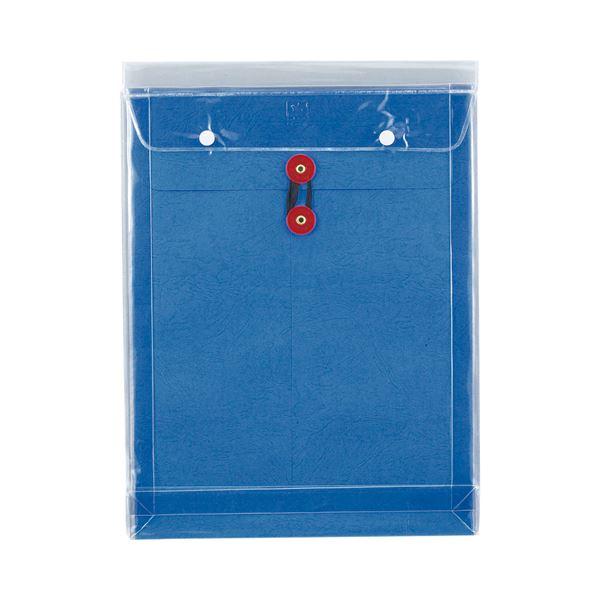(まとめ) ピース マチヒモ付ビニール保存袋 レザック 角0 184g/m2 青 922 1枚 【×30セット】