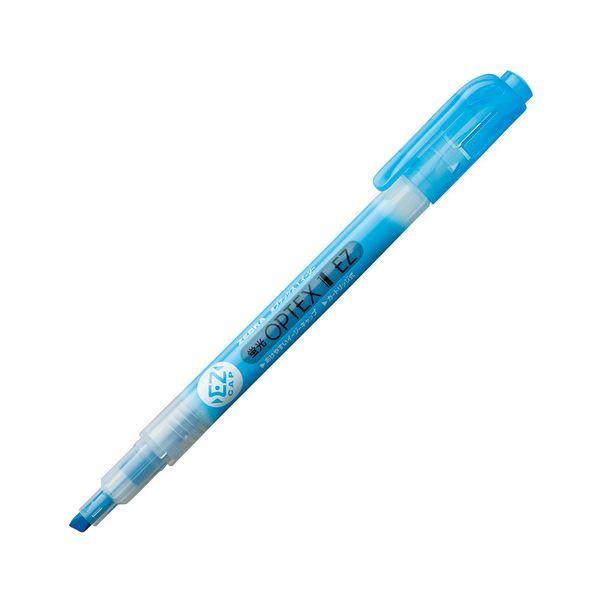 (まとめ) ゼブラ 蛍光オプテックス1 EZ 青 WKS11-BL 1本 【×300セット】