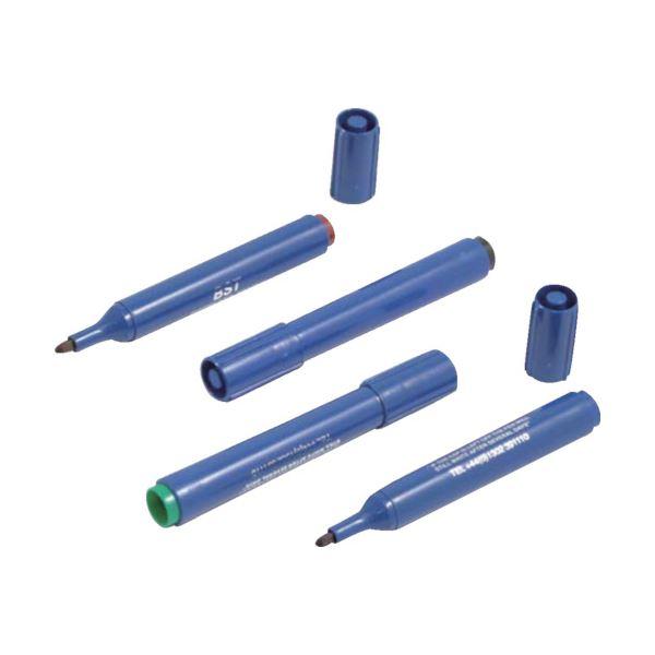 (まとめ) バーテック バーキンタ マーカー本体-青 インク:緑 BCMK-BG 66209700 1本 【×10セット】