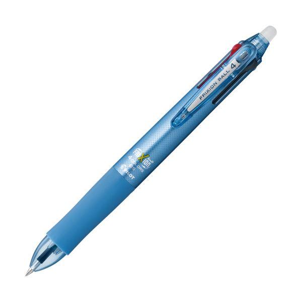 (まとめ) パイロット 多色ゲルインキボールペンフリクションボール4 0.5mm (軸色:ライトブルー) LKFB-80EF-LB 1本 【×10セット】
