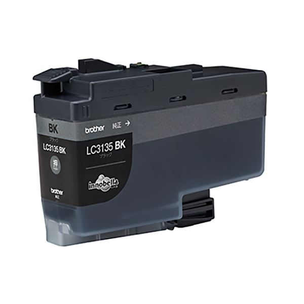 (まとめ)ブラザー インクカートリッジ ブラック超大容量 LC3135BK 1個【×3セット】