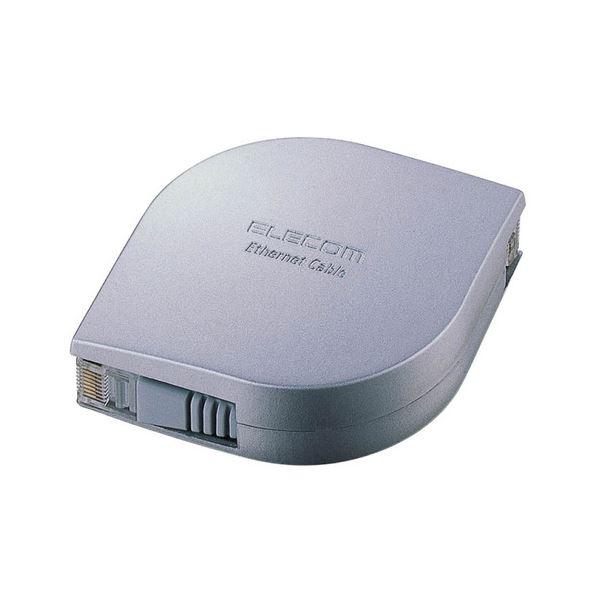 エンハンスドカテゴリー5規格準拠 (まとめ) エレコム 携帯用ウルトラフラットLANケーブル シルバー 2m LD-MCTF/SV2 1個 【×10セット】