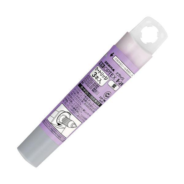 RWK8-PU 1ケース(3本) 紫 ゼブラ蛍光オプテックス1・2用カートリッジ (まとめ) 【×100セット】