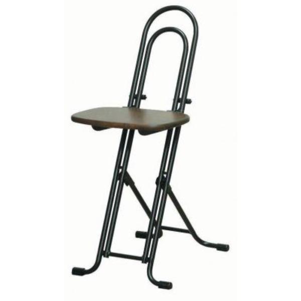 シンプル 折りたたみ椅子 【ダークブラウン×ブラック 幅330mm】 日本製 スチールパイプ 『ベストホビーチェア』【代引不可】