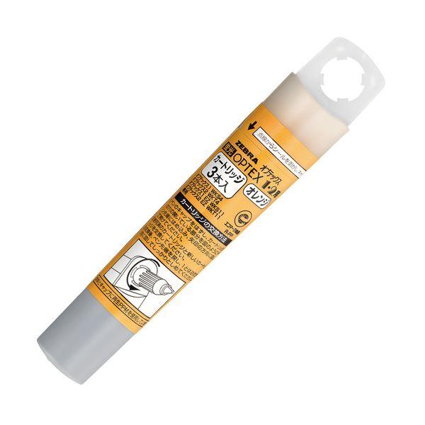(まとめ) ゼブラ蛍光オプテックス1・2用カートリッジ オレンジ RWK8-OR 1ケース(3本) 【×100セット】
