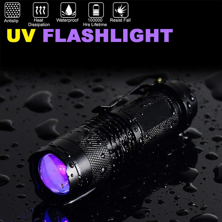 紫外線ブラックライト LEDライト UV懐中電灯 新作製品、世界最高品質人気! 紫外線 全店販売中 ブラックライト 対策の発見器 ステイン ペットの尿 カーペットの汚れ対策 UV懐中電灯目には見えない汚れに