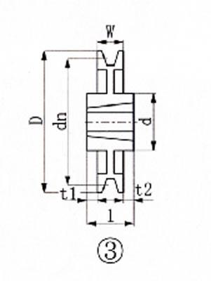 【EVN】ブッシングプーリー SPZ 315mm 溝数1 SPZ3151【TN】【TC】【プーリー】