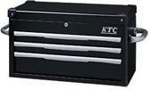 【取寄】[KTC]KTC トップチェスト(3段3引出シ)ブラック EKR1003BK[作業用品 工具箱・ツールバッグ スチール製工具箱 京都機械工具(株)]【TC】【TN】