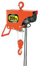 【HHH】電気ホイスト 200kg 揚程6m ZS200【TN】【TC】【ホイスト】