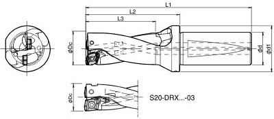 [京セラ]京セラ ドリル用ホルダ S25DRX240M207 2039[切削工具 旋削・フライス加工工具 ホルダー 京セラ(株)]【TC】【TN】【10P25Oct14】