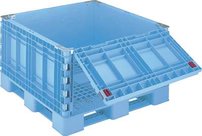 【取寄】[リス]リス パレットボックスBJB-S・1111X65一面ダンプ11 ブルー BJBS1111X65SD11[物流保管用品 コンテナ・パレット パレット 岐阜プラスチック工業(株)]【TC】【TN】