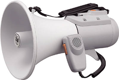 【TOA】TOA 中型ショルダー型メガホン ホイッスル音付き ER2115W【安全用品/拡声器/TOA/拡声器/メガホン】【TC】【TN】