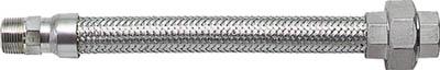 【NFK】ユニオン・ニップル型フレキ ALLSUS304 32A×500L NK193-32-500【TN】【TC】【フレキシブルメタルホース/フレキ管/ホース・配管資材/南国フレキ工業】