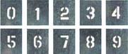 [ツクシ]ツクシ 吹付プレート 数字(0~9) 10枚組 大サイズ J91C[環境安全用品 安全用品・標識 安全掲示板 (株)つくし工房]【TC】【TN】