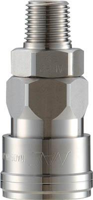 【ナック】クイックカップリング AL40型 ステンレス製 メネジ取付用 CAL48SM3【TN】【TC】【カップリング】