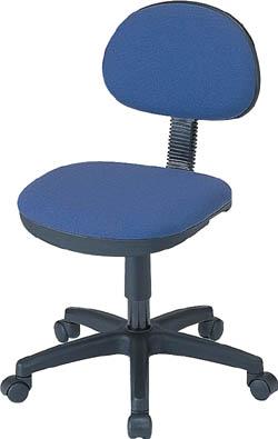 【ロアス】OHチェア 肘なし W535×D590×H745~850mm ブルー RZC-NO2BL【TN】【TC】【オフィスチェア/事務用家具/ロアス】