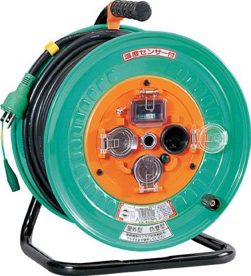 【日動】電工ドラム 防雨防塵型100Vドラム アース漏電しゃ断器付 30m NPW-EB33【TN】【TC】【コードリール(単相100V)/電工ドラム(防雨・防塵型・ブレーカー付)】