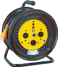 【日動】電工ドラム 三相200Vドラム アース付 20m ND-E320-20A【TN】【TC】【コードリール(三相200V・単相200V)/電工ドラム(三相200V)】
