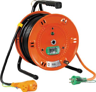 【日動】電工ドラム びっくリール 100V アース漏電しゃ断器付 30m NL-EB30S【TN】【TC】【日動工業/コードリール(単相100V)/びっくリール(ブレーカー付)】