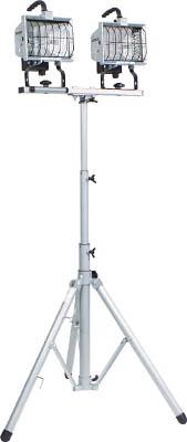 【日動】ハロゲン投光器 ハロスター500 100V 500Wハロゲン 二灯三脚式 HS-500LW【TN】【TC】【日動工業/投光器(ハロゲンライト)/ハロゲンライト】