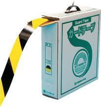 【緑十字】緑十字 ガードテープ 再剥離タイプ 100m  トラ 149036【テープ製品/ラインテープ/日本緑十字社/危険表示テープ/ガードテープ(弱粘着タイプ)】【TC】【TN】