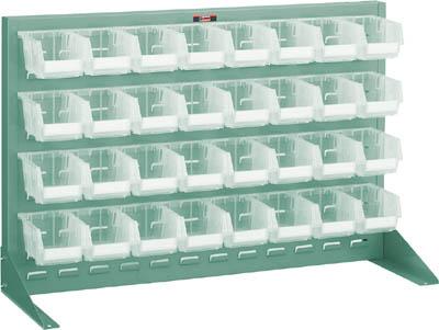 【TRUSCO】TRUSCO パネルコンテナラック片面卓上式900×305×600 緑 T0632NTM【保管管理用品/パネルラック/図面/トラスコ】【TC】【TN】