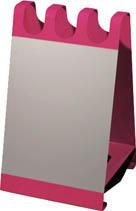 [ブンブク]ブンブク サインボード型傘立 ホワイトボードシート付 ベリーピンク USOX03SBP[オフィス住設用品 オフィス家具 傘立て (株)ぶんぶく]【TC】【TN】